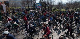 protest biciclisti
