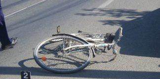 biciclist lovit