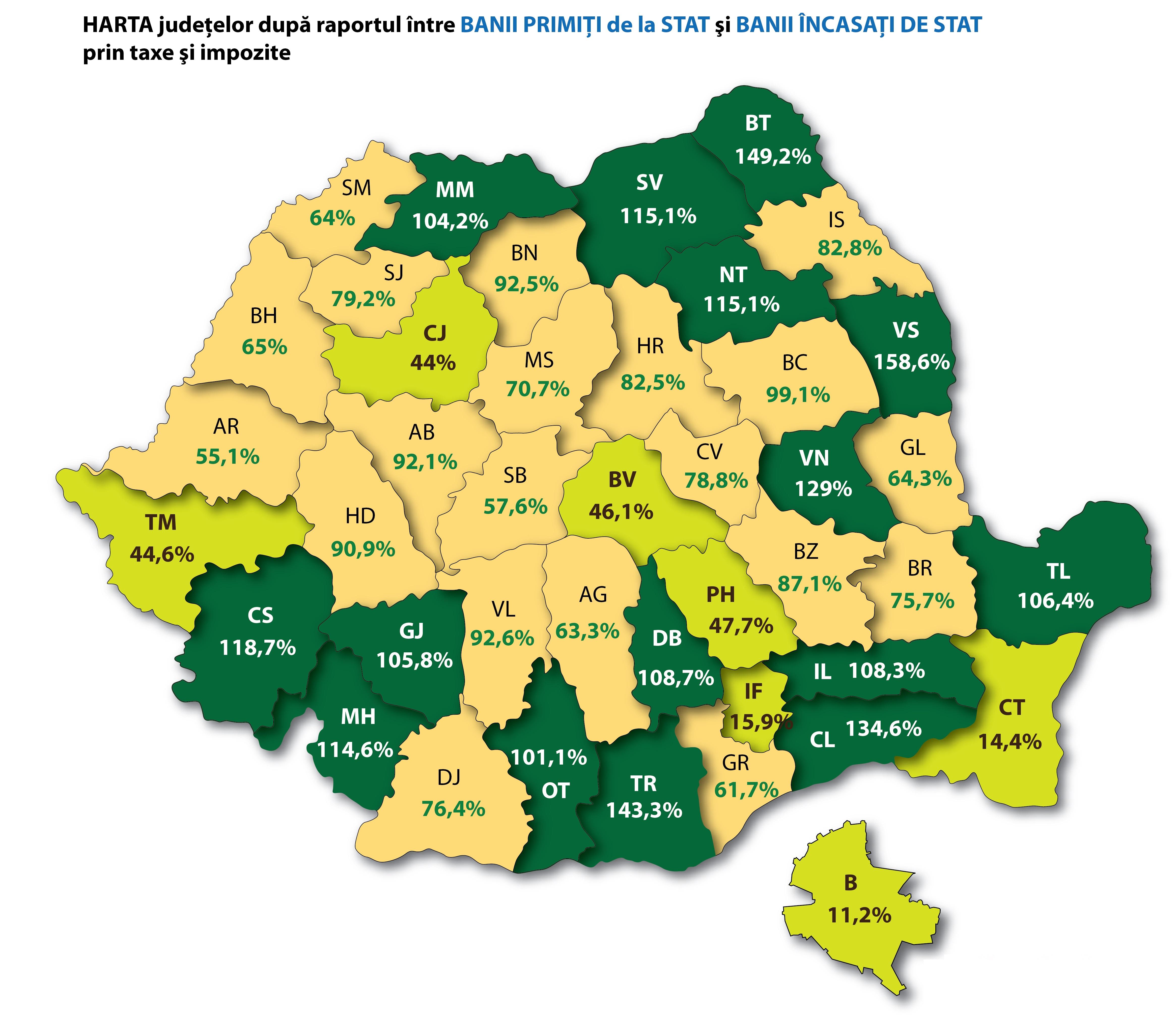 Harta Banilor Din Romania Cat Dă Si Cat Primeste Inapoi De La