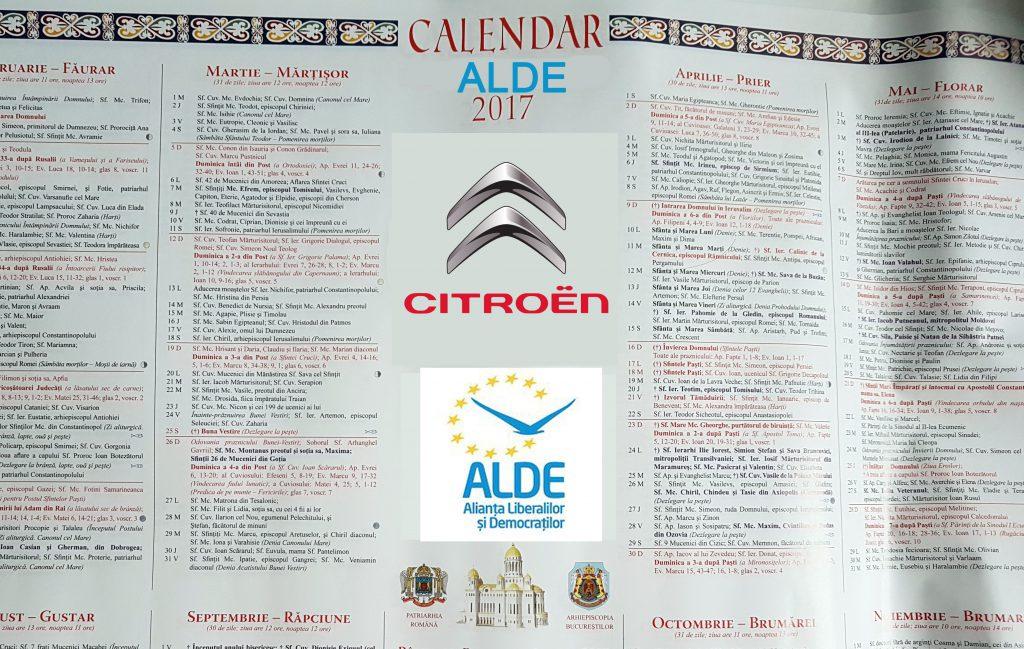 CALENDAR ALDE