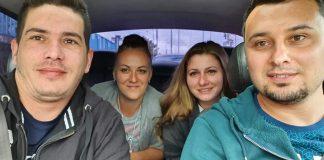 De la stânga la dreapta: Vladimir și Aida Bucurescu, Cristina și Alexandru Cioc