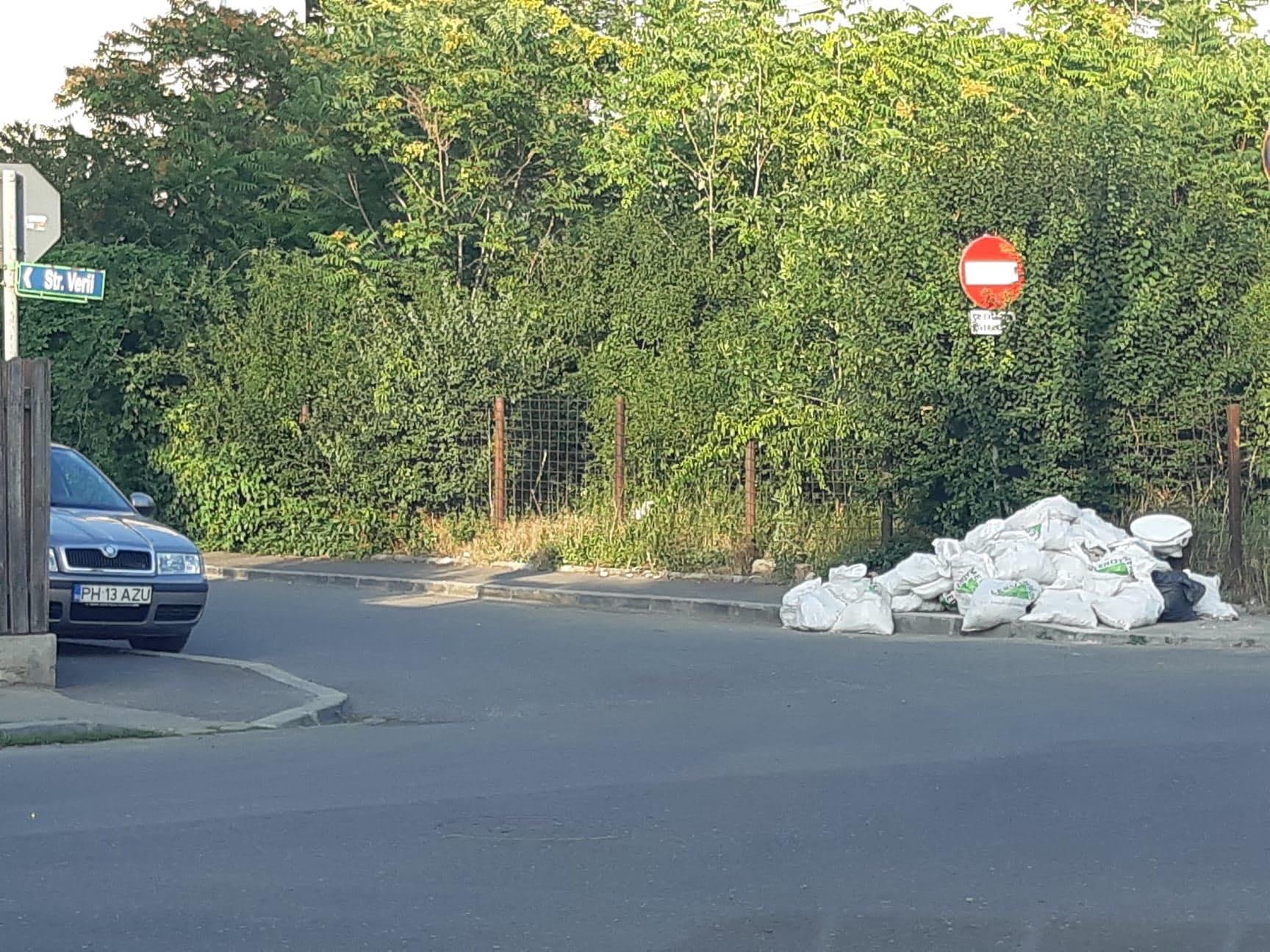 FOTO: Gunoi neridicat de o lună, la doi pași de centrul Ploieștiului. Bonus: WC-uri aruncate la colț de stradă