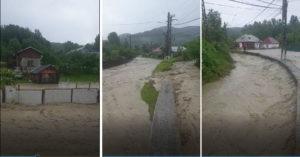 Inundații produse de viitură, vineri după amiază, în comuna Provița de Jos 1